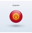 Kyrgyzstan round flag vector image