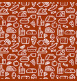 meal seamless pattern vector image vector image