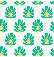monstera summer tropical jungle pattern vector image vector image
