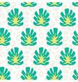 monstera summer tropical jungle pattern vector image vector image