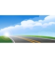 Morning Road Background vector image vector image