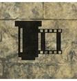 negative films icon symbol Flat modern web design vector image