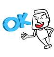 Ok man cartoon