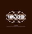old antique hipster luxury vintage badge emblem vector image vector image
