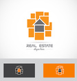 Real estate abstract house concept logo vector image