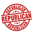 republican round red grunge stamp vector image vector image