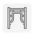 scaffolding part icon vector image vector image