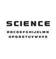 science technology letters black wide geometrical vector image vector image