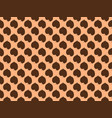 seamless pattern leaves on a brown background vector image