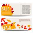 set autumn sale banners design element vector image vector image