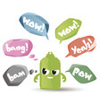 set of speech bubbles in trendy style vector image