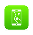 smartphone with gps navigator icon digital green vector image