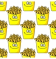 Smiling takeaway French fries seamless vector image vector image