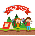 sports camp vector image vector image
