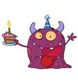 Spotted Purple Birthday Monster