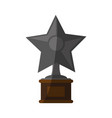 star shape trophy icon image vector image vector image