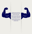 strong male muscular banner vector image vector image