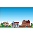 Suburb background vector image vector image