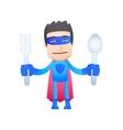 superhero in various poses vector image