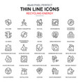 thin line environmental protection icons set vector image