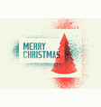 typographic grunge stencil splash christmas card vector image