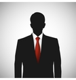 Unknown person silhouette whith red tie vector image