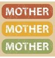 Vintage MOTHER stamp set vector image vector image