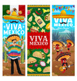 viva mexico jalapeno pepper musicians band vector image vector image