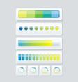 web panel widget design for upload services vector image