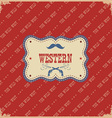 western label background wild west with text vector image vector image
