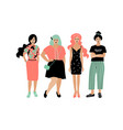 young fashion women stylish girls on white vector image vector image