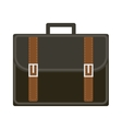 Business suitcase icon flat style Portmanteau vector image