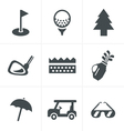 golf Icons Set Design vector image