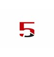 Abstract Number 5 logo Symbol icon set vector image