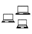 laptops black icon vector image