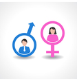 male and female icon design vector image