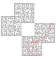 maze conundrum geometric labyrinth maze vector image