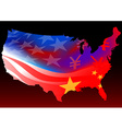 american with chinese and usa flag vector image