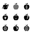 appletree icons set simple style vector image vector image