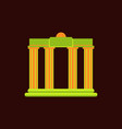 architecture greek columns vector image vector image