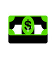 bank note dollar sign green 3d icon with vector image vector image