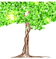 beautiful paper decorated with fairy tree and vector image vector image