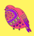 bird with oriental patterns and flowers bright vector image vector image