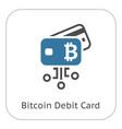 bitcoin debit card icon vector image vector image