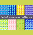 bright seamless pattern with lines and triangles vector image vector image