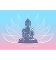 Buddha sitting in lotus pose vector image vector image