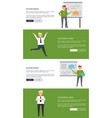 businessman and successful man posters with text vector image