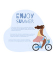 card with active modern romantic african girl on vector image