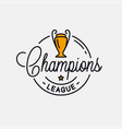 champions league logo round linear vector image