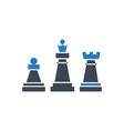 chess glyph icon vector image vector image